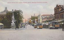 Postcard Queen Street from corner of Eagle Street, fountain Brisbane Queensland