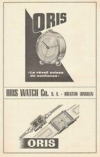 PUBBLICITA' 1948 ORIS WATCH CO S.A. HOLSTEIN BASILEA SWISS OROLOGIO SVEGLIA