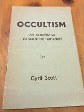Occultism By Cyril Scott A Program From A Lecture Given In 1956