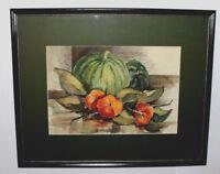 Orig Artwork Watercolor Still life Listed Artist Christy Monk Signed Cust. Frame