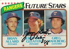 1980 Topps #673 Signed JERRY DON GLEATON Autograph Rangers Pitcher John 3:16