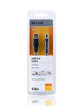 Belkin Kabel USB2.0 Stecker A <-> Stecker B 4,8m Schwarz F3U154CP4.8M - 2er Pack