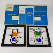 Vintage Teaching Models Interactive 2 & 4 Cycle Engine For Projector 3M Usa 1966