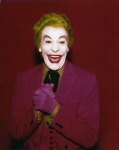 "CESAR ROMERO - THE JOKER - 10"" x 8"" Colour Photograph BATMAN MOVIE 1966"