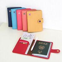Clásico Cuero de Imitación Cubierta de Pasaporte Porta Pasaporte De Protección
