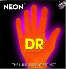 DR NEON NOB6-30 Neon Orange Luminescent/Fluorescent Bass Guitar 6 Strings 30-125