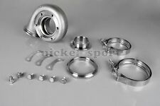 Stainless V-Band .63 Turbine Houisng Complete install Kit for GT3582 Tial Turbo