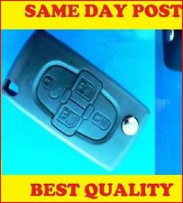 FOR PEUGEOT 1007 4 Button Remote FLIP KEY FOB CASE Without groove blade Repair