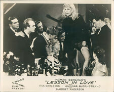 A LESSON IN LOVE INGMAR BERGMAN EVA DAHLBECK HARRIET ANDERSEN LOBBY CARD SWEDEN
