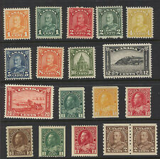 Canada  125-27, 182 pair, 129, 131-132  mint  all  NH  lot      MS0323