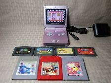 Nintendo Game Boy Advance SP Console + 8 Games Pokemon Red Super Mario 3 AGS 101