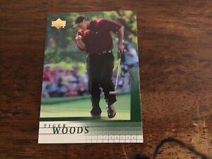 2001 TIGER WOODS # 1 ROOKIE UPPER DECK GOLF CARD NM A BEAUTY