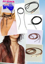 5mmglod Tube Black/brown Suede Cord String Wrap Bolo Tie Choker Necklace