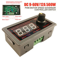 DC 9-60V PWM Motor Speed Governor Controller Switch BMG Digital Display 12A