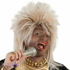 80s Glam Rock Diva Blonde Tina Turner Rod Stewart Mullet Fancy Dress Costume Wig
