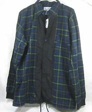 New Crooks & Castles Men'S Woven l/s shirt motive green multi Size L/G *