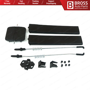 Side Sliding Window Glass Latch Cover Repair Set 7H0847781B for VW T5 Caravelle