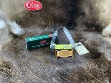 2001 Case 32131 Century 01-01-01 Canoe Knife Yellow Handles - Mint In Box - 42B