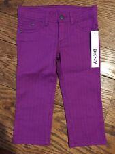 New Girls 6 Dkny Magenta Cropped Pants Bottoms Purple Plum