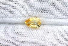 .78 Carat Pear Natural Golden Yellow Sapphire Gem Stone Gemstone B22A26