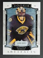 2015-16 Artifacts #180 Malcolm Subban RC /999 - NM-MT