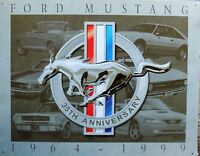 PLAQUE METAL vintage MUSTANG 35th anniversary - 40 X 30 CM original USA
