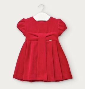 Mayoral Baby Girls Red Short Sleeve Cute Dress (2954)