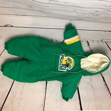 NFL baby 12 months packers green yellow gloves boots