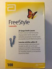 FreeStyle Lancets 100 Diabetic Blood glucose test GENTLE 28 gauge EASY use SALE!