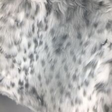 Nicole Miller Throw Blanket Snow Leopard Faux Fur Gray Spotted Luxury 50x60 NEW