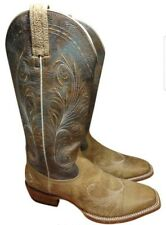 **ARIAT**  WOMEN GALS USA 9 B BROWN  LEATHER BOOTS WESTERN CATALINA