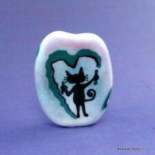 """THE PURRING PICASSO""  handmade lampwork glass CAT pendant focal bead byKayo SRA"