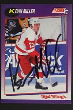 Kevin Miller Detroit Red Wings Autographed 1991 Score #126P Hockey Card JSA 16H