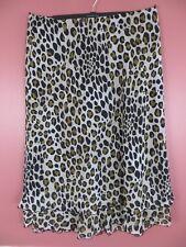 SK13649-CATO Women Polyester Maxi Flare Skirt Multi-Color Animal Print Sz 18/20W