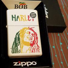 Zippo 29308 Bob Marley Colorful Stripes White Matte NEW in box Windproof Lighter