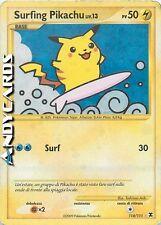 FINE ☻ SURFING PIKACHU LIV.13 114/111 ☻ Rara Holo Foil ☻ L'Ascesa dei Rivali RRV