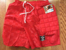 NWT VINTAGE PADDED MENS GOALKEEPER SHORTS RED UMBRO MADE IN BRAZIL X-LARGE