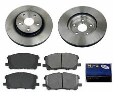 Front Ceramic Brake Pad Set & Rotor Kit for 2014 Lexus IS250 C-C F SPORT