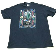 Vintage Arizona Chemise Taille XL Bleu Manches Courtes T-Shirt Sud-Ouest 1993