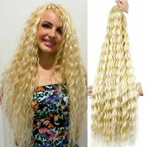 """32"""" Deep Wave Crochet Hair Synthetic Freetress Curly Twist Braids Hair Extension"""