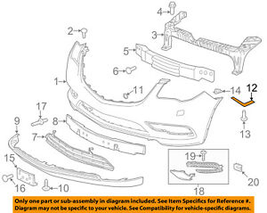 Buick GM OEM 13-16 Enclave Front Bumper-Side Retainer Bracket Left 20986161
