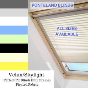 SKYLIGHT BLINDS FOR VELUX WINDOWS - PERFECT FIT FULLY FRAMED - SOLAR REFLECTIVE