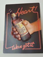 "Vintage Molson Light Beer Advertisement Sign 15.75"" x 11.25"" Heart! We've Got It"