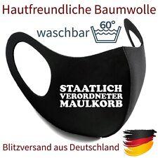Mundmaske Nasenmaske Gesichtsmaske Fashion Mask Maulkorb waschbar Baumwolle