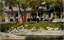 Bass Lake Indiana~Winona Cafe Crowd~Ice Cream~Candies~Soft Drinks~1912