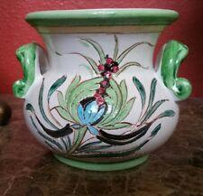Mexican Pottery Talavera ? Bean Pot Decorative Flower