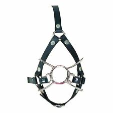 Bondage Head Harness with Steel Spider Mouth Gag