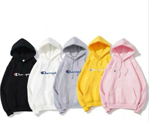 Champion Unisex Hoodie Printed Sweatshirt Men's Women's Sports Sweater Pullover