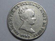 1839 MADRID 1 REAL SPAIN ISABEL II PLATA SPANISH PLATA SILVER