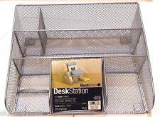 Design Ideas Desk Station, Mesh, Silver. Office Organizer. LIMITED GREAT DEAL!